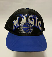 Vintage 90's Orlando Magic Snapback Cap Hat Black NBA