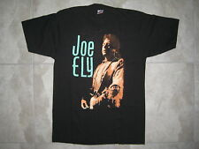 Vintage Joe Ely Signed Autographed Black 1990 Concert Tour Graphic T Shirt New
