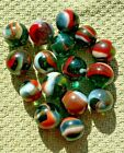 16 Peltier Transparent Rainbow  Marbles