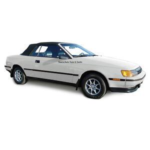 Fits: 1987-1989 Toyota Celica - Convertible Top,  Black Haartz Twill