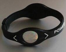 Power Balance Armband mit zwei Hologrammen in Schwarz - Weiß Gr.M (19,0 cm) Neu
