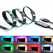 USB RGB LED Strip Light Colour Change Background Mood Lighting TV PC - 100cm