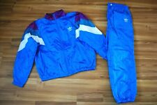 ADIDAS RETRO NYLON FULL TRACK SUIT JACKET TOP and PANTS SIZE SMALL D7 LARGE RARE