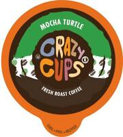 Crazy Cups Flavored Coffee for the Keurig K Cups 2.0 Brewer, Mocha Turtle 22 Ct