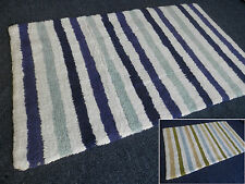 Unbranded Rectangle Striped Bath Mats
