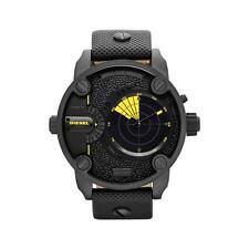 Reloj para hombres Diesel Big Daddy SBA Dial Negro DZ7292 con radar Deslizar Nueva En Caja