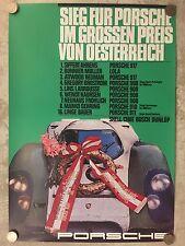 1969 Porsche 917 GP of Austria Victory Poster RARE! Awesome L@@K Factory Reprint