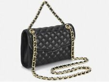 Rebecca Minkoff Mini Affair Quilted Leather Shoulder Bag BLACK Gold HW $195 NEW