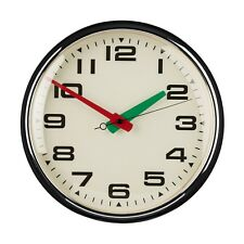 40cm Retro Diner Style Wall Clock Red Green Hands Kitchen Metal Time Mechanism