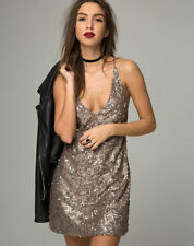 Purpura Dress Glitter Sequin Gold by Motel Size M / UK 12 rrp £50 DH079 ii 04