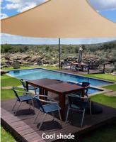3*4m Shade Sail Canopy Outdoor UV Proof Rectangle Extra Heavy Duty Sun