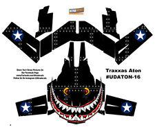Black Spitfire Traxxas Aton Plus Shark Teeth Body Wrap Decal Skin Sticker Canopy
