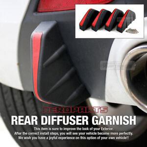 Bumper Diffuser Molding Point Garnish Air Spoiler Cover Black Red for LAMBORGHIN