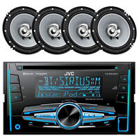 "KWR920BTS Car Indash Bluetooth iPod USB Mp3 AUX Car Radio, 6.5"" Car Speaker Set"
