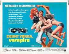 Count Yorga Vampire Cartel 02 A2 Caja Lona Impresión
