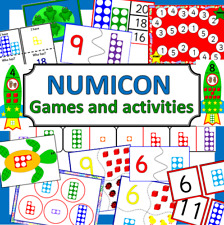 NUMICON games and activities  Maths resources on CD- EYFS, KS1, Number shapes