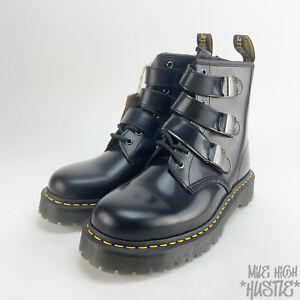 Dr Martens Women's 12 Men's Size 11 Fenimore Black Buckle Moto Boots
