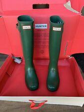 NEW Womens HUNTER Original Tall Rain Boots Hunter Green Sz US 8