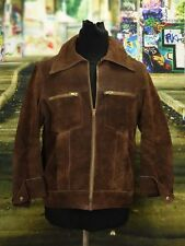 Leather jacket suede excellent condition VINTAGE Size M  (VJ237)