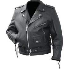 Rocky Mountain Hides Solid Genuine Cowhide Leather Classic Motorcycle Jacket Large