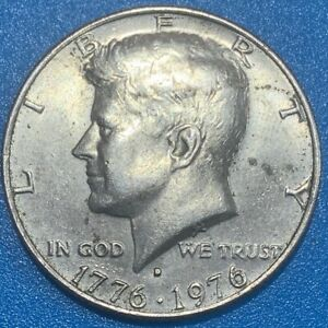 "1976 United States ½ Dollar ""Kennedy Half Dollar"" Bicentennial Coin"