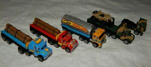 Vintage Micro Machines Semi Tractor Trailer Trucks - Lot of 5 - 1980's
