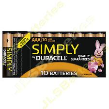 10 x simply duracell aaa MN2400 LR03 piles alcalines 1.5V mini stilo/micro