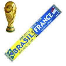 ECHARPE COUPE DU MONDE 1998 FRANCE BRESIL football no drapeau maillot fanion ...