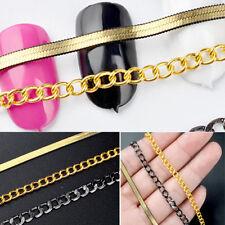 Cadena De Oro Metal Manicura Arte en Uñas Decoraciones Hágalo usted mismo de diseño de la tira encantador 50 Cm