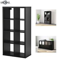 IKEA KALLAX Black Brown, 8 Shelving Unit Display, Storage, Bookcase, Expedit