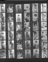 Vintage Pinup proof photos c1960 attractive model 2 proof sheets 35mm original