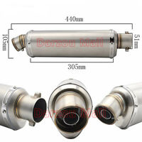 Universal Stainless Steel 38-51mm Motorcycle Exhaust Muffler Silencer Exhaust