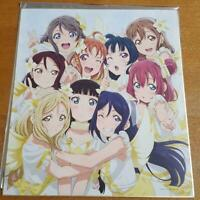 LOVE LIVE SUNSHINE OVER THE RAINBOW LIMITED Aqours 9 member Shikishi japan anime