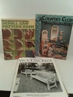 Set Of Wood Working Books, Scroll Patterns, Bunny Furniture, Woodworker books