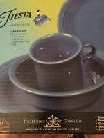 Fiestaware Lapis Place Setting 4 Piece Mint in Box (831 337)