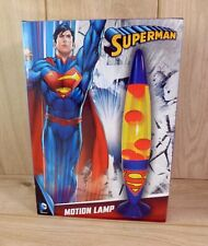 DC Comics Superman Motion Sensory Mood Lava Lamp - Brand New