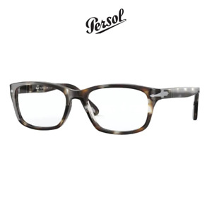 Computer Reading Glasses Persol 3012 1124 Striped Brown Crystal 54 18 145 + Hoya