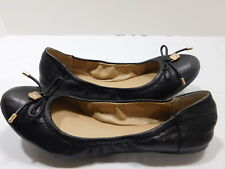 New! $99 Vince Camuto Black Genuine Leather Ballet Flats.....8  B/ 38 EUR