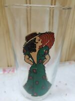 VTG 1940's PEEK-A-BOO Naughty BAR GLASS~PIN UP~RISQUE~TUMBLER - Reverse Nude