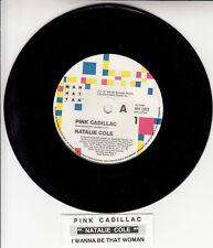 "NATALIE COLE  Pink Cadillac 7"" 45 rpm vinyl record NEW + juke box title strip"