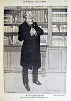 Woodblock Huguenet Drawing of Losques Comoedia Shown N°1 1909 Bows