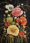 Tapestry Panel Textile Picture Fabric without Frame Poppies Night 18 1/2x26in