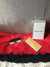 Handbag Michael Kors Navy & White Multi Sunset Shades PVC Gold Charm Key Chain
