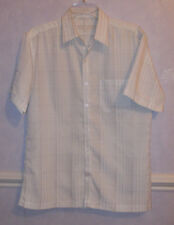 Men's URBAN SPIRIT gold/ivory  short sleeve Shirt Medium