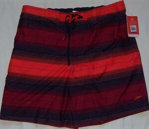 NEW Mens Speedo Amplify E Board Shorts Size 2XL Hot Orange VaporPLUS UPF 50+ $54