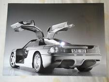 MERCEDES c112 AUTO PRESS PHOTO BROCHURE 1991 RIF. D 91 S 1591