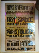 Vintage Toms River, NJ Drive-In Mover Theater Poster