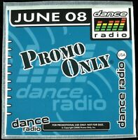 "PROMO ONLY ""DANCE RADIO JUNE 2008"" DJ PROMO CD COMPILATION USHER, DUFFY *NEW*"