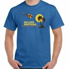Island Hoppers Mens Retro Magnum PI T-Shirt 80's TV Show Helicopter Tom Selleck