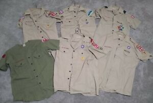 6) BOY SCOUTS Of AMERICA UNIFORM SHIRT PA VTG TROUP COMMITTEE PATROL PATCHES LOT